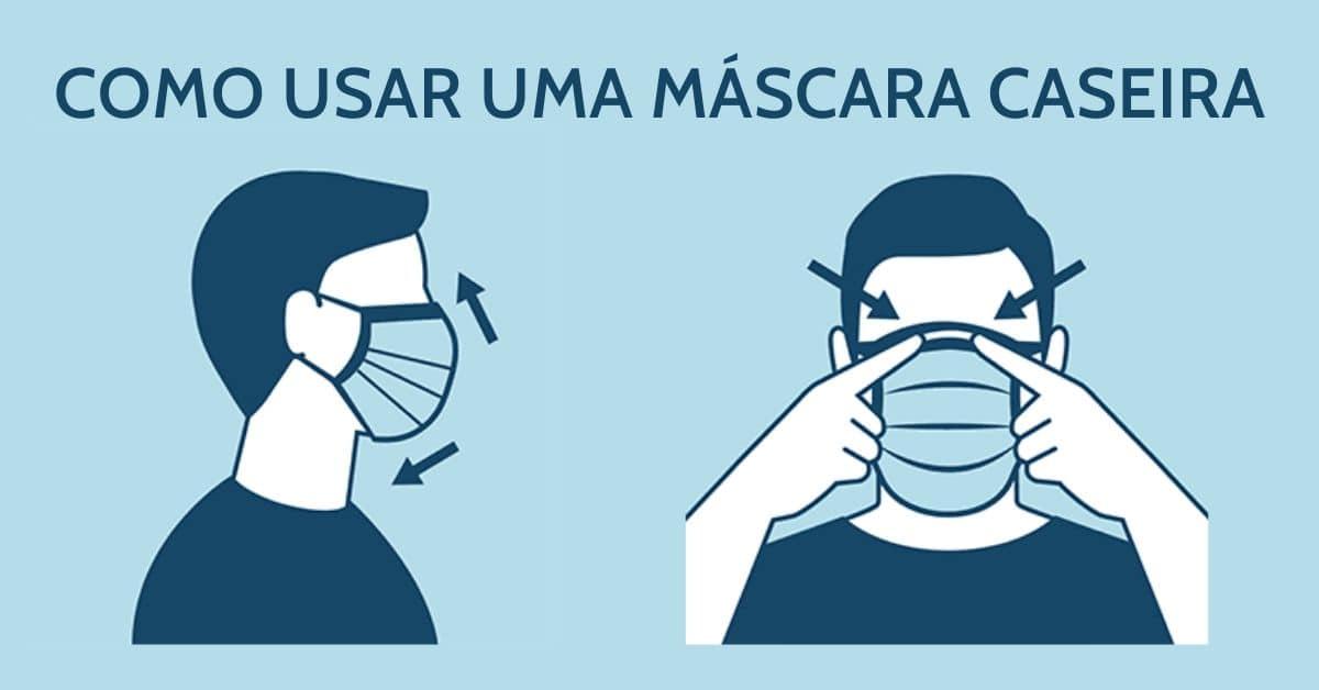 Como Usar Uma Máscara Caseira